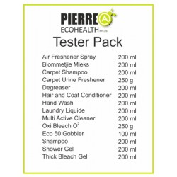 Tester packs 14 items